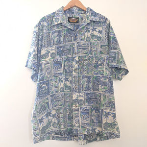 Harley Davidson Hawaiian button up XL EUC